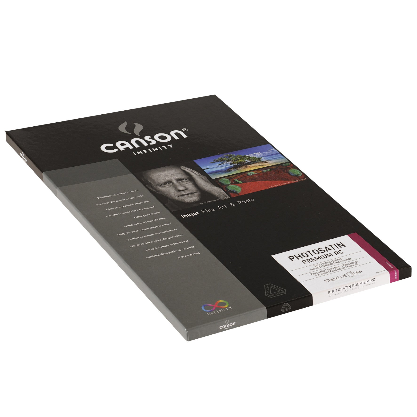 Canson Infinity Photo Satin Premium RC - 270gsm - A3+ - 25 sheets - Wall Your Photos