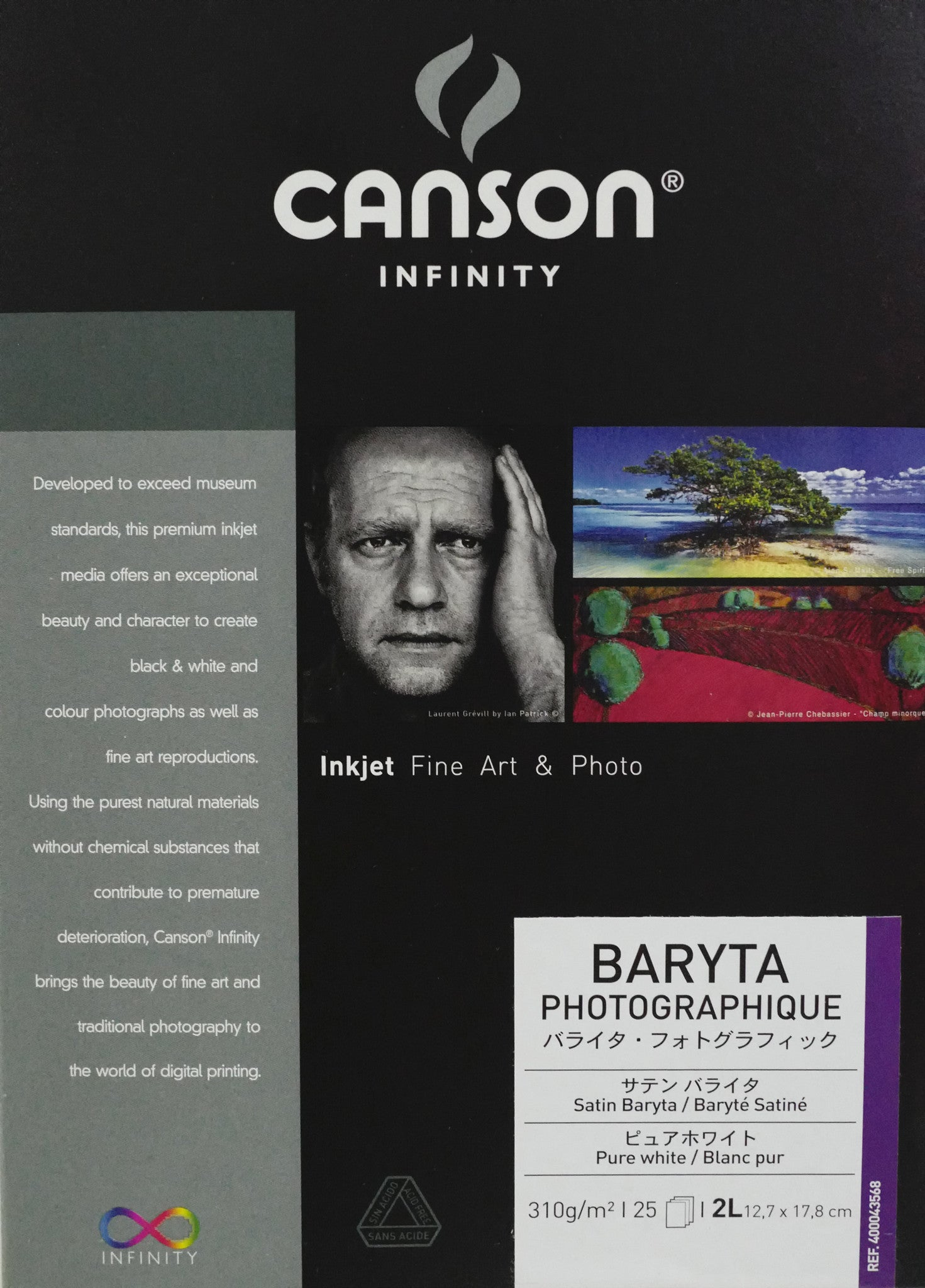 Canson Infinity Baryta Photographique - 310gsm - 5R - 25 sheets