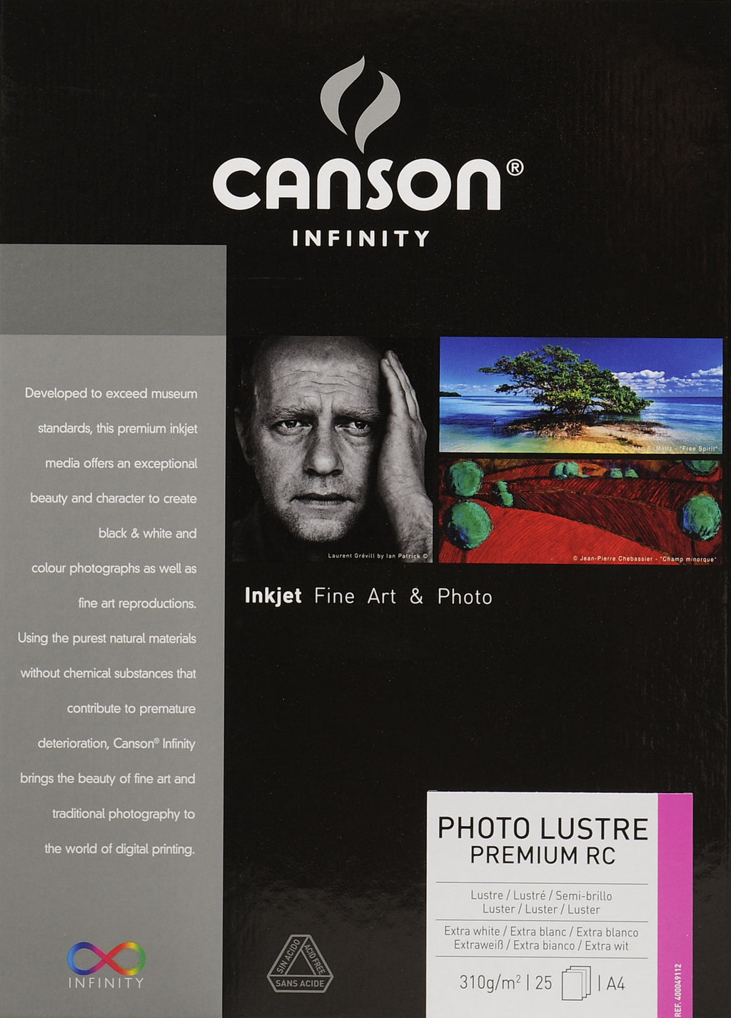Canson Infinity Photo Luster Premium RC - 310gsm - A4 (25 sheets) - Wall Your Photos