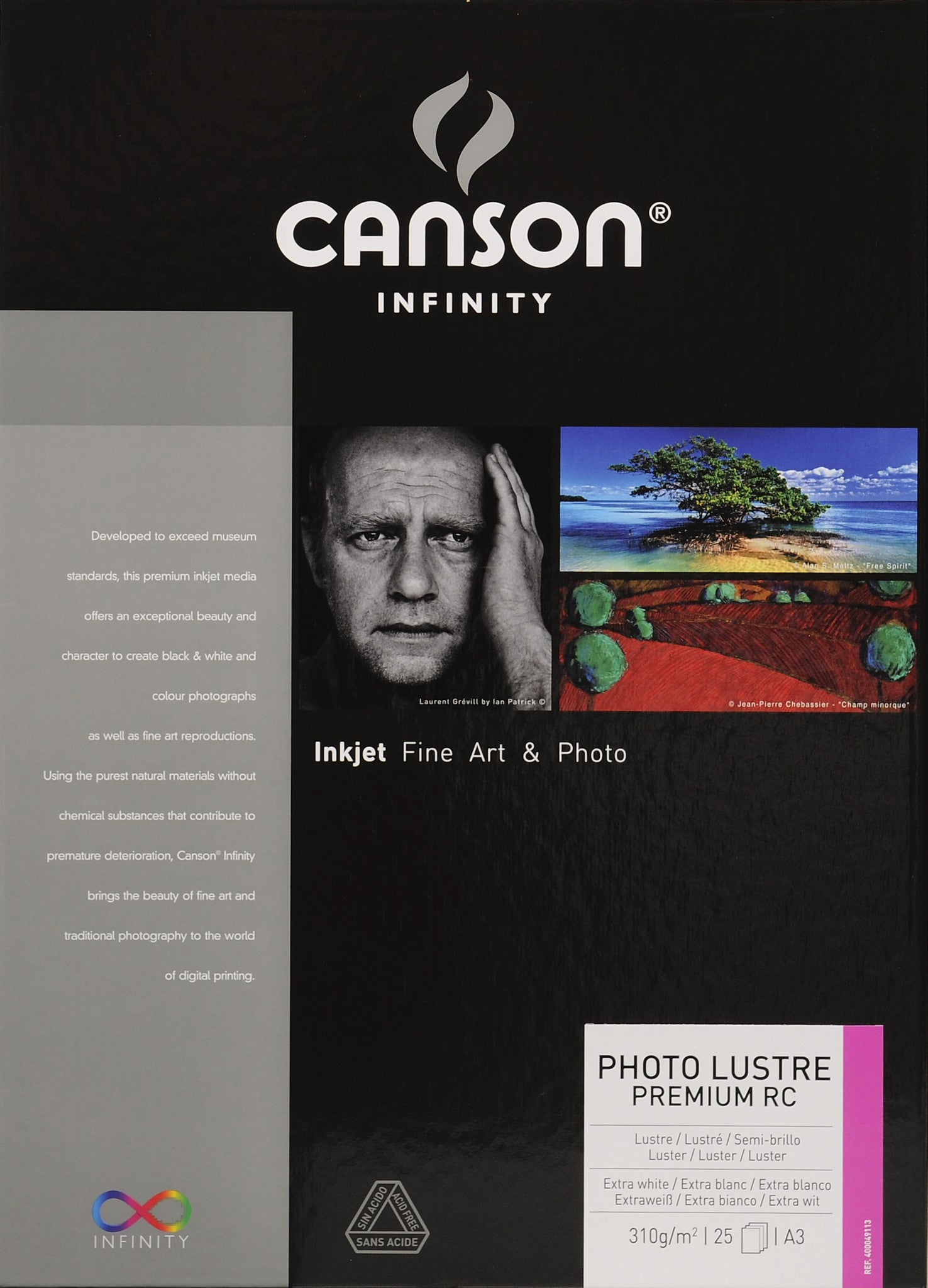 Canson Infinity Photo Luster Premium RC - 310gsm - A3 (25 sheets)