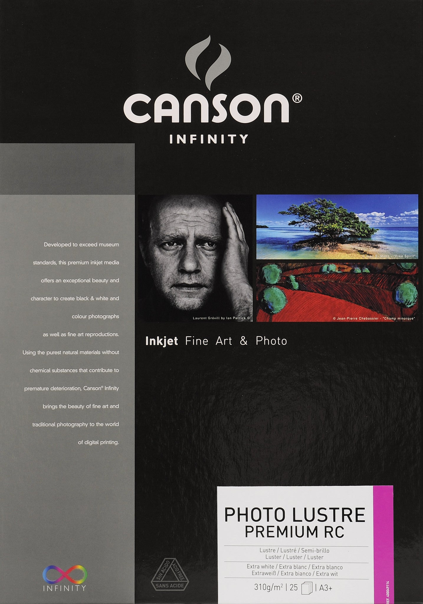 Canson Infinity Photo Luster Premium RC - 310gsm - A3+ (25 sheets)