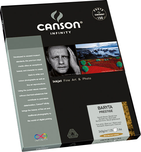 Canson Infinity Baryta Prestige - 340gsm - A4 (25 sheets) - Wall Your Photos