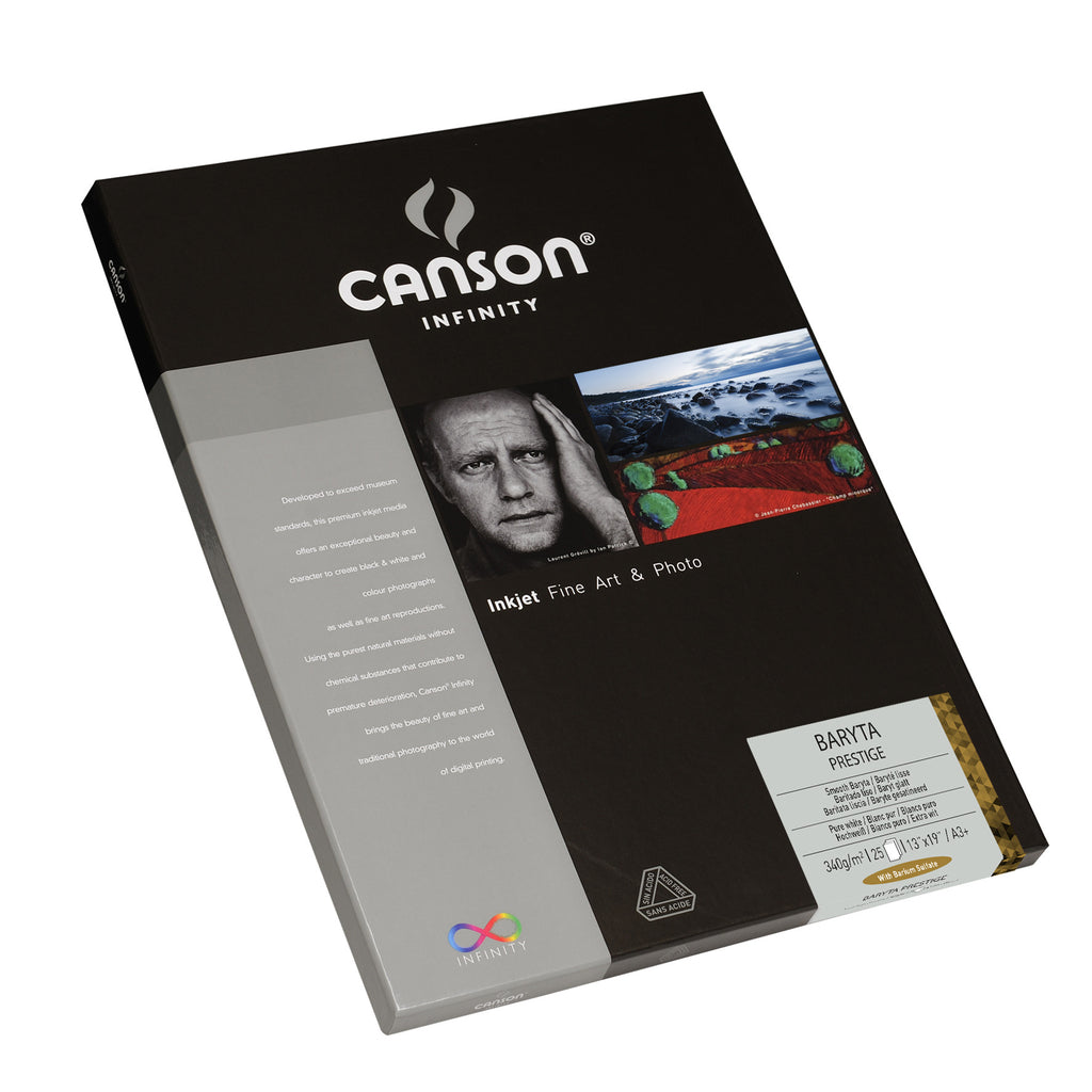 Canson Infinity Baryta Prestige - 340gsm - A3+ - 25 sheets - Wall Your Photos