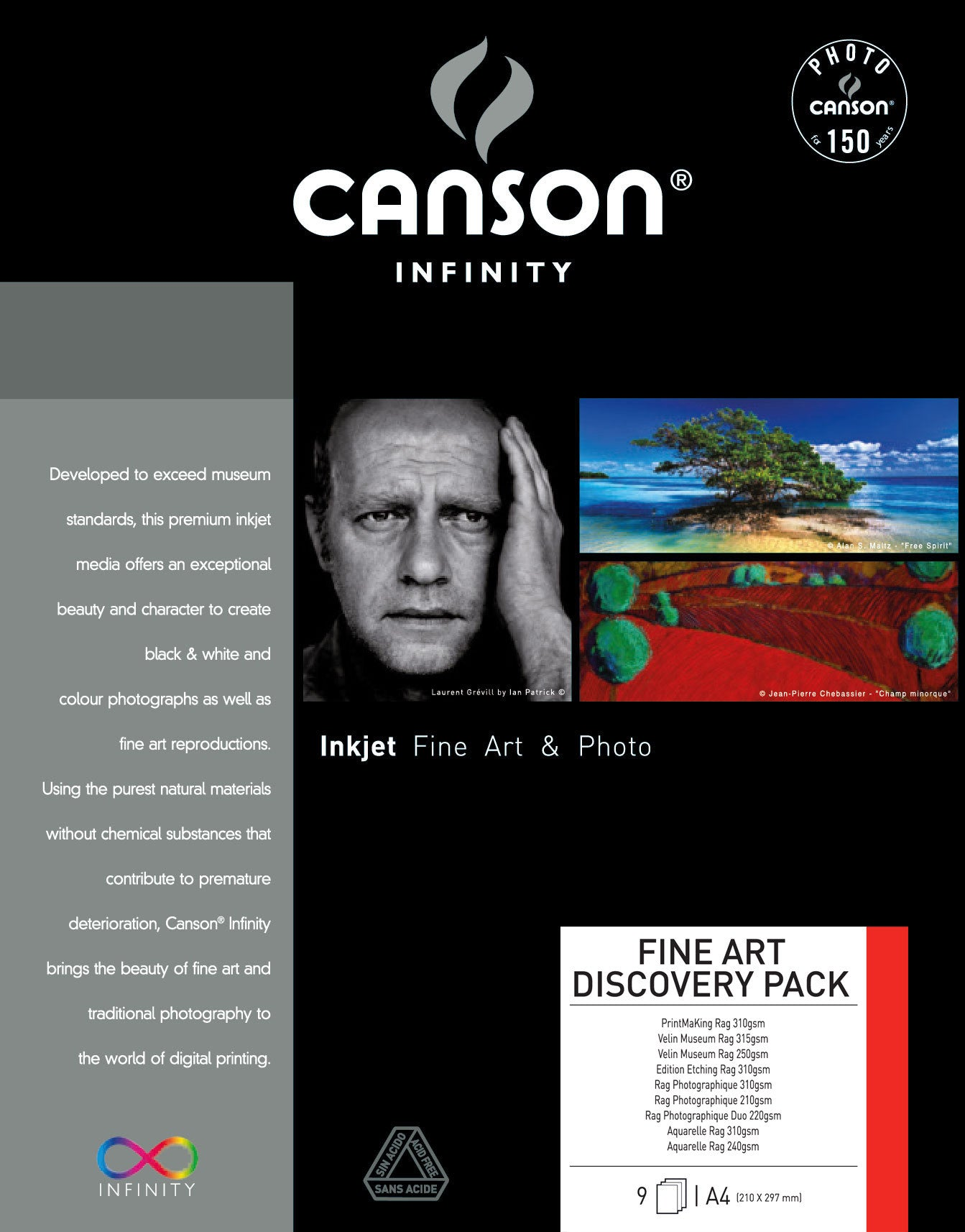 Canson Infinity Discovery Pack Fine Art - A4 - 9 sheets - Wall Your Photos