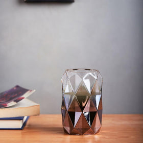 Diamond Cut Glass Vase- Large
