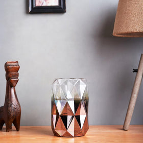 Diamond Cut Glass Vase- Short