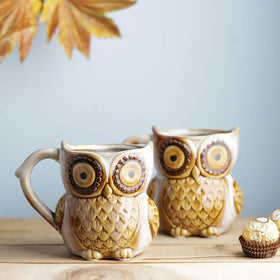Set of 2 Hoot Hoot Jr. Owl Mug - Vanilla Creme