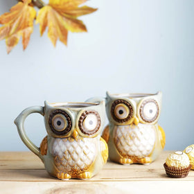 Set of 2 Hoot Hoot Jr. Owl Mug - Cool Blue