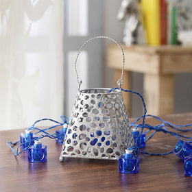 Iron Lantern with String Light (Dewdrops)