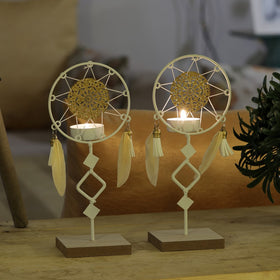 Set of Dreamcatcher Tea Light Holders