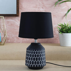 Black Honeycomb Table Lamp