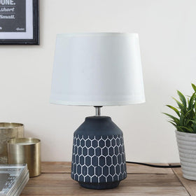 Charcoal Honeycomb Table Lamp