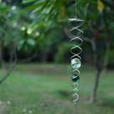 Twisted Orb Wind Spinner, Double (Bottle Green)