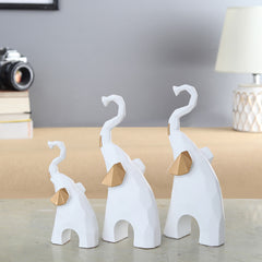 Majestic Mammoths Figurines, White