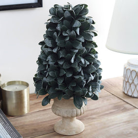 Cone Topiary Artificial Desk Plant