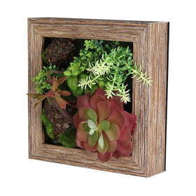 Floral Red Succulent Wall Planter