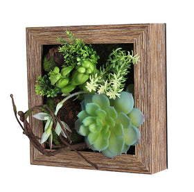Floral Green Succulent Wall Planter
