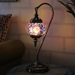 Berkin Turkish Mosaic Lamp M- Dark Rainbow