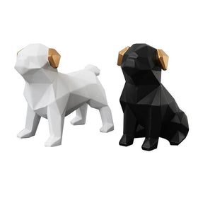 Stylish Pugs Figurine set2