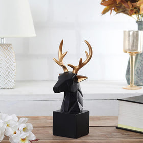 Majestic Deer Head Figurine