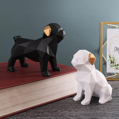 Stylish Pugs Figurine set1
