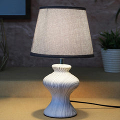 Grey Curvy Table Lamp