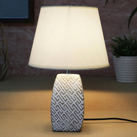 White Maze Table Lamp