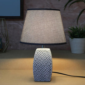 Grey Maze Table Lamp