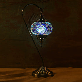 Berkin Turkish Mosaic Lamp L-Azure Blue