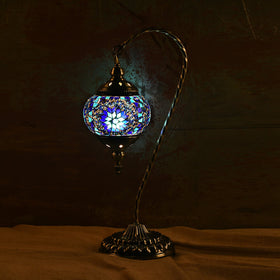 Berkin Turkish Mosaic Lamp M-Azure Blue