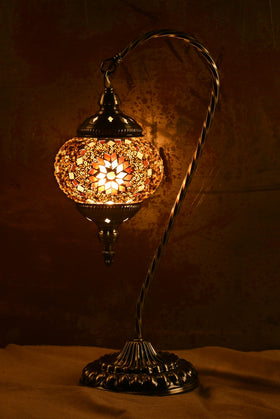 "Berkin Turkish Lamp (18"" Medium / Coffee)"