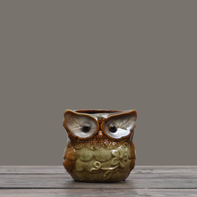 Hoot Hoot Pen Stand - Dusty Blue