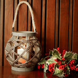 Smoke Twist Wooden Lantern