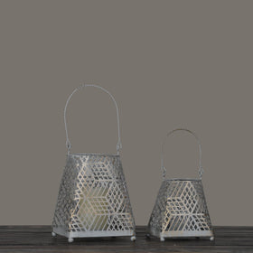 Set of 2 Starlight Candle Lanterns