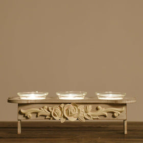 Decorative Tea Light Holder - White