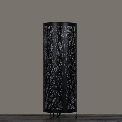 Enchanted Forest Lamp (Tall Cylinder, Black)