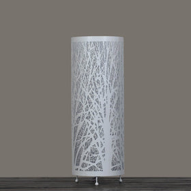 Enchanted Forest Lamp (Tall Cylinder, White)