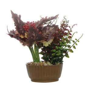 Faux Spring Greens Plant-Red