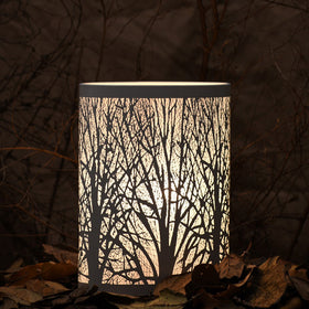 Enchanted Forest Lamp (Short Oval,White)