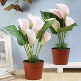 Set of 2 Faux Calla Lily Plants- Pink