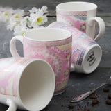 Set of 4 Pastel Flower Mugs