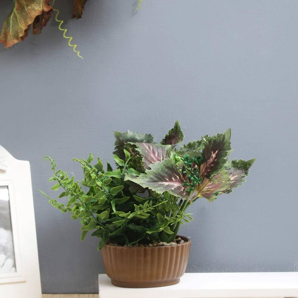 Faux Spring Greens Plant-Green