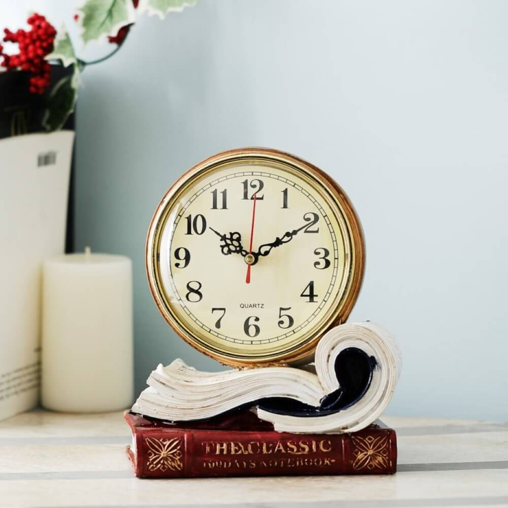 Tome of Timekeeping: Desk Clock (Scarlet Red)