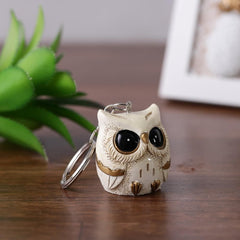 Vintage Owlet Keychain- Off White