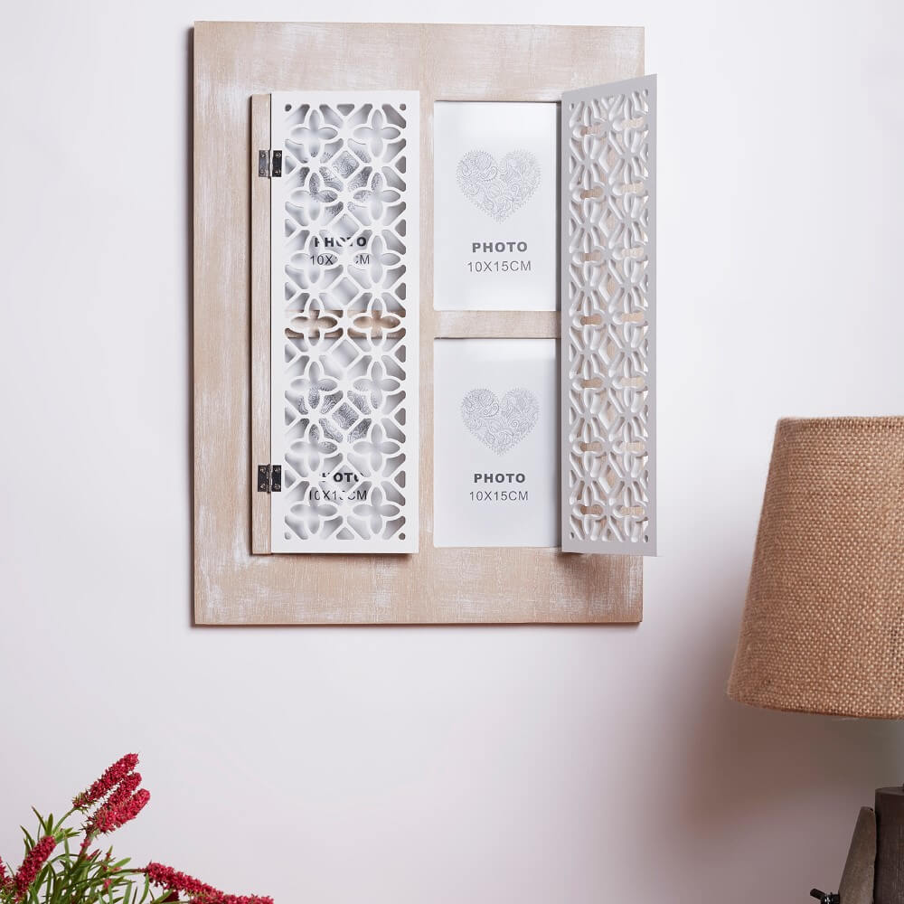 Vintage Shutters Wall Photo Frame
