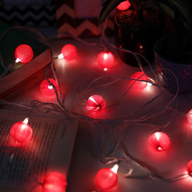Festive Red Ball String Light