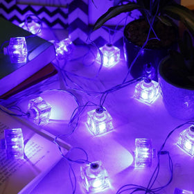 Festive Cube String Light-Blue