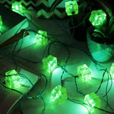 Festive Cube String Light-Green