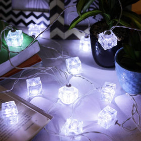 Festive Cube String Light-White