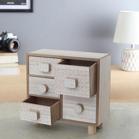 Vintage Desk 5-Drawer Unit